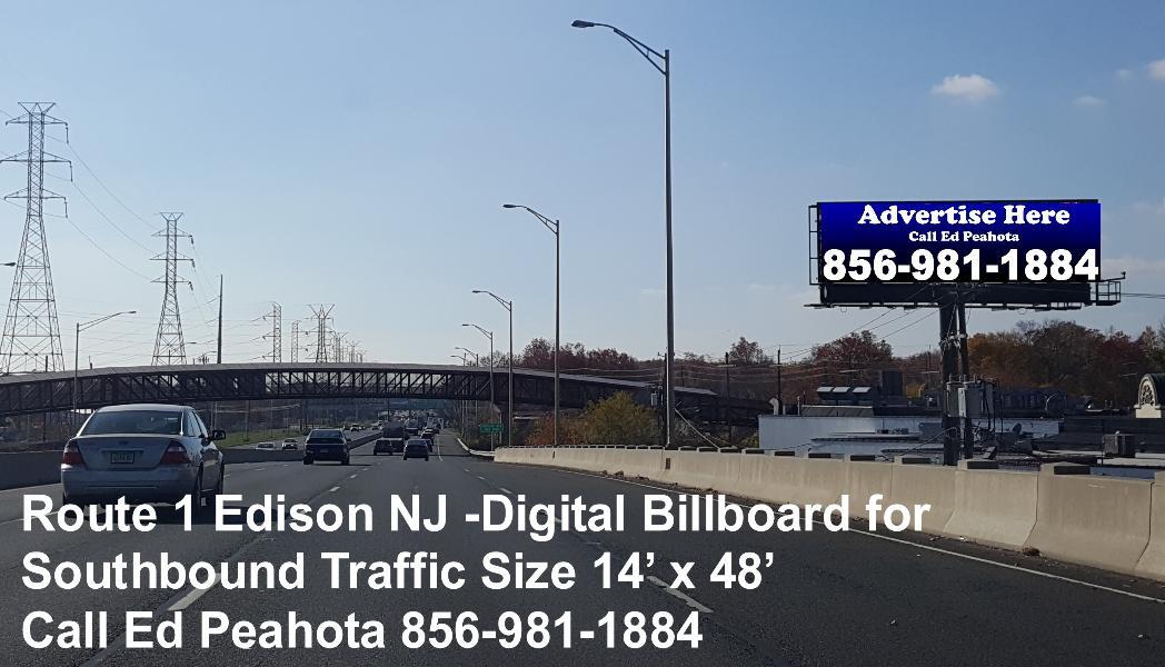 Edison New Jersey Route 1 Digital Billboard